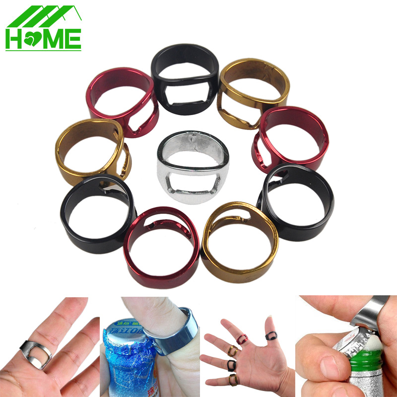 1/3/5PCS Men Unique Finger Ring Wine Bottle Opener Stainless Steel Brand New Beer Openers Ring For Beer Bar Tool Free Shipping