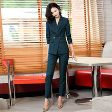 Autumn and winter new plus size women's professional pants