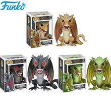 Funko Pop Game of Thrones Rhaegal Drogon Viserion PVC Action Figures Brinquedos Collection Model Christmas Gifts F16 цена и фото