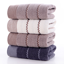 Simple household wave texture natural pure cotton towel high quality thickened soft absorbent towel adult pure cotton washcloth