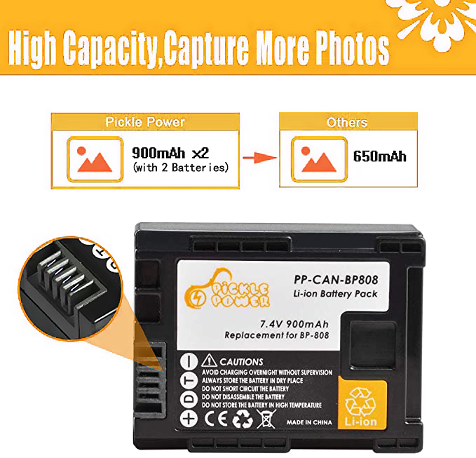 Bateria 900mAh BP-827 BP-808 BP-819 BP-809 BP