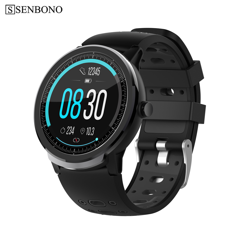 SENBONO S10 Pro Smart Watch men sport all round screen clock Heart Rate Blood Pressure tracker women Smartwatch for IOS Android