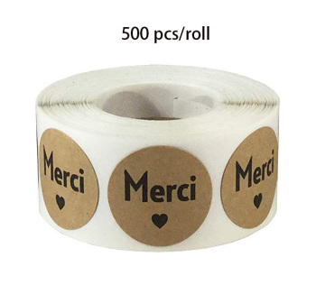 500pcs kraft paper thanks sticker seal label cute food packaging handmade scrapbook office decoration stationery