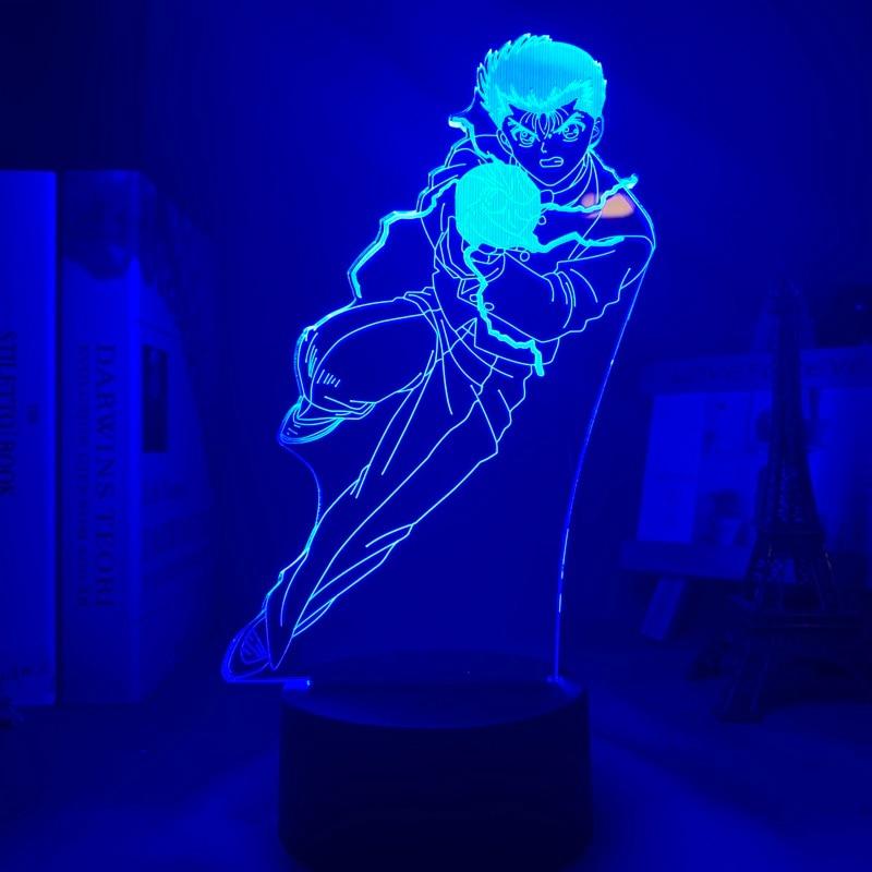 Hbd461d204c7d4069895fb3a2ee946008V Luminária Yu yu hakusho yusuke urameshi conduziu a luz da noite para o quarto decoração presente colorido nightlight anime 3d lâmpada yu yu hakusho