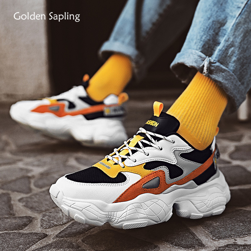 Golden Sapling Retro Style Sneakers Men Breathable Summer New Running Shoes Athletic Light Weight Sport Trainers Men's Sneaker