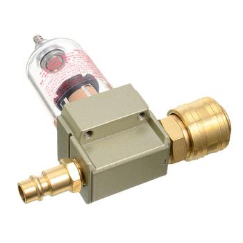 1pc filtr sprężonego powietrza Separator wody i oleju w tym 1 4 #8222 szybkie łączenie dla powietrza pompa oleju kolektor wody Separator wilgoci tanie i dobre opinie Mayitr Oil Water Separator