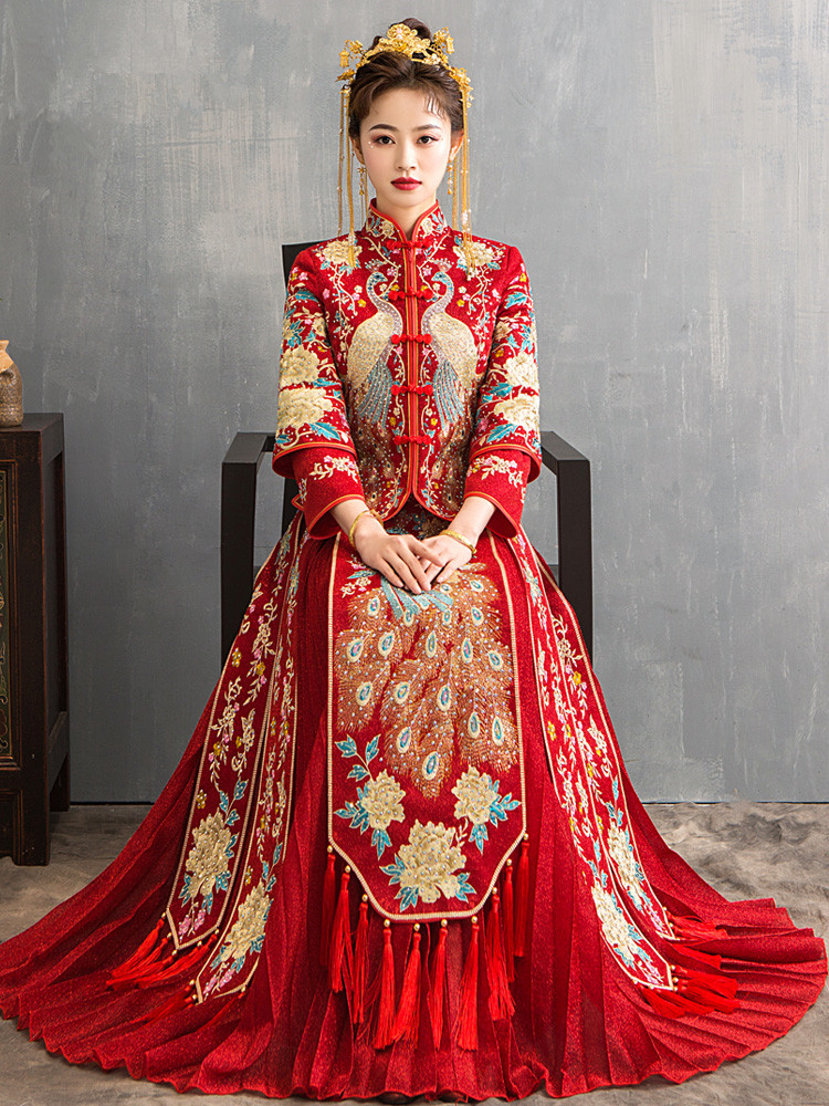 Traditional Chinese Wedding Dress Oriental Style Dresses China Clothing Plus Size 6XL 2020 Modern Cheongsam Red Qipao Long