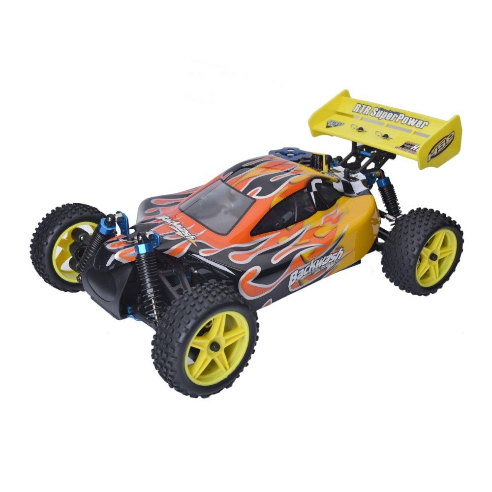 HSP 1/10 Nitro-powered race off-road vehicle 4WD remote control car 94166 for outdoor racing RC car accessories image