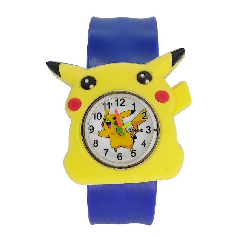 Colorful Band Kids Slap Watches Children Cartoon Pikachu Watch Silicone Wristwatch For Boys Girls Baby Christmas Gift Kid Clock