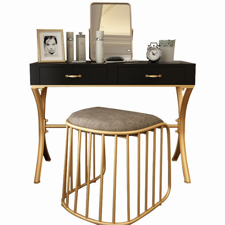 Wrought Iron Dresser Modern Concise Small Apartment Layout Mini- Roast Paint Makeup Table Simple And Easy Dresser Assemble