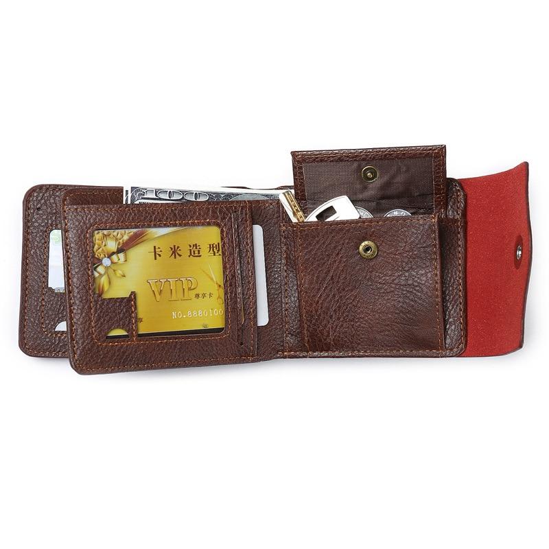 Leather Men Wallet Pocket Purse Vintage Brand Wallets Hasp Coin Pocket Wallet For Mens Key Credit Card Holder Portafoglio Uomo