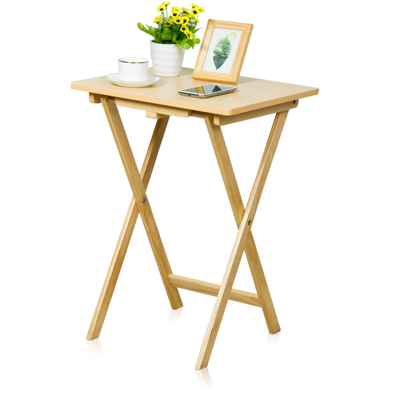 Household Folding Table Simple Simple Tea Table Portable Dining Table Laptop Computer Small Table Outdoor Solid Wood