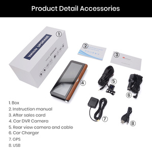 """Image 5 - Junsun E31P Pro Auto DVR Kamera 4G ADAS 7.80 """"Android OS GPS Navigator Registrar Video Dash Cam Recorder mit zwei kameras morror"""