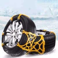 Auto Reifen Schnee Kette Auto Lkw Verstellbare Winter Schlamm Anti Slip Anti-Skid Safty Notfall Sicherheit Reifen Rad Kette gürtel