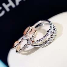 Женские регулируемые кольца с изменяемым размером цвета розового