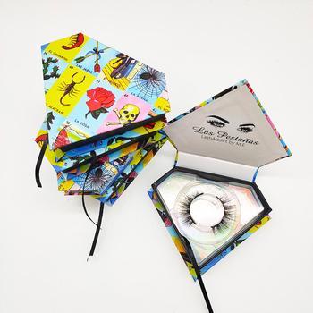 Diamand Lash Box Make Your Own Brand Custom Packaging With Logo Eyelash Luxury Customized According to Needs