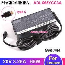 Véritable 65W 20V 3.25A adaptateur secteur chargeur ADLX65YCC3A alimentation pour Lenovo ThinkPad X1 T480 T580 X280 ADLX65YDC2A ADLX65YCC2A