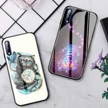 Funda de teléfono de gato de Cheshire, cristal para Huawei P30 Lite 20 Por P9 10 Honor 8X9 10 NOVA 5