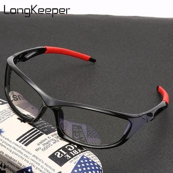 LongKeeper Men Anti Blue Light Glasses 2020 New Sport Transparent Eyeglasses Male Black Computer Gaming Eyewear Oculos UV400 - discount item  45% OFF Eyewear & Accessories