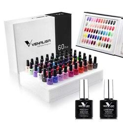 #61508, новинка 2019, 60 модных цветов, Гель-лак Venalisa, Цветной Гель-лак для дизайна ногтей, весь набор, гель для ногтей, набор для обучения