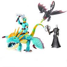2019 Dragon Toothless Action figure Light Fury Toys For Childrens Birthday Gifts