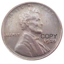 Us um centavo 1920 p/d/s copiar moedas