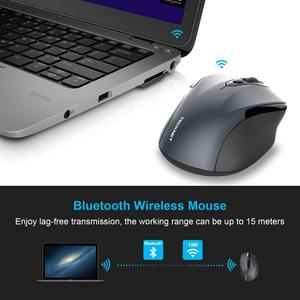 Image 3 - TeckNet Bluetooth Mouse Wireless Laptop Mouse 1200/1600/2000/2600DPI Two AAA Battery Bluetooth Mice For PC Notebook Windows