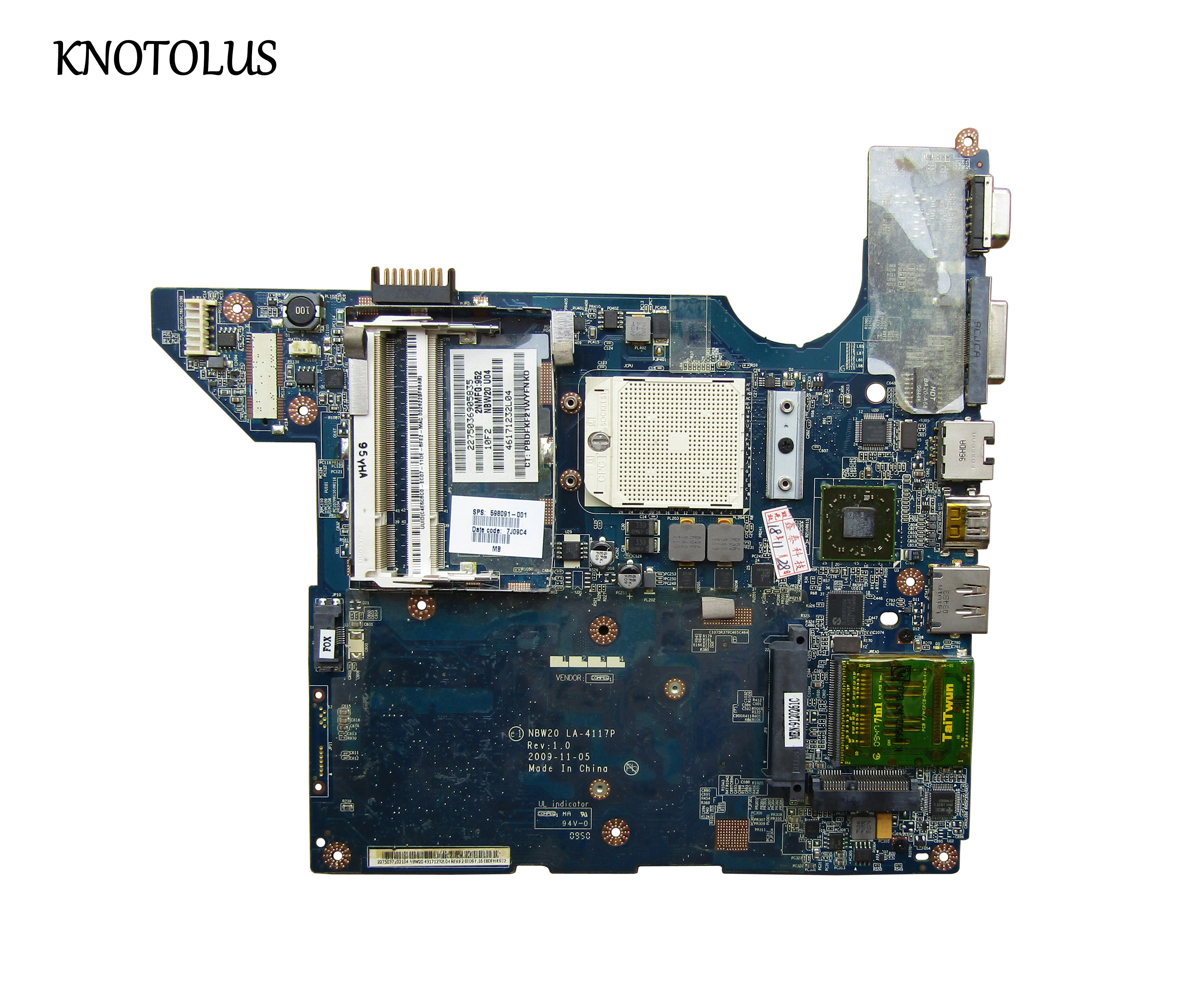 High Quality 598091-001 For HP Laptop Mainboard DV4 DV4-2100 LA-4117P Laptop Motherboard,100% Tested