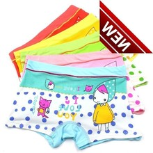 5pcs/lot Girls Boxer Breathable Cotton Material Kids Underwear For Baby Panties Childrens Clothing Panty Majtki Bragas