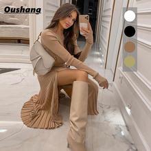 Женское платье свитер комплект из 2 предметов Топ с длинным