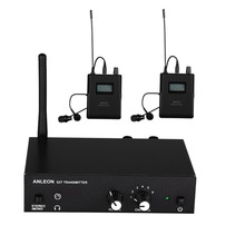 For ANLEON S2 UHF Stereo Wireless Monitor System 670 680MHZ Professional Digital Stage In Ear Monitor System 2 Receivers