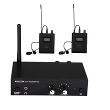 Für ANLEON S2 UHF Stereo Wireless Monitor System 670-680MHZ Professionelle Digitale Bühne In-Ear-Monitor-System 2 empfänger(China)