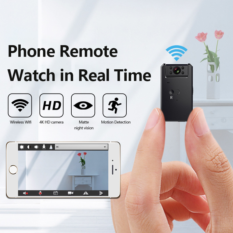 <font><b>4K</b></font> 180 ° <font><b>MINI</b></font> <font><b>Camera</b></font> Cloud IP <font><b>Camera</b></font> WiFi Wireless Smart Auto Tracking Of Human Home Security CCTV Baby Monitor Auto Tracking image