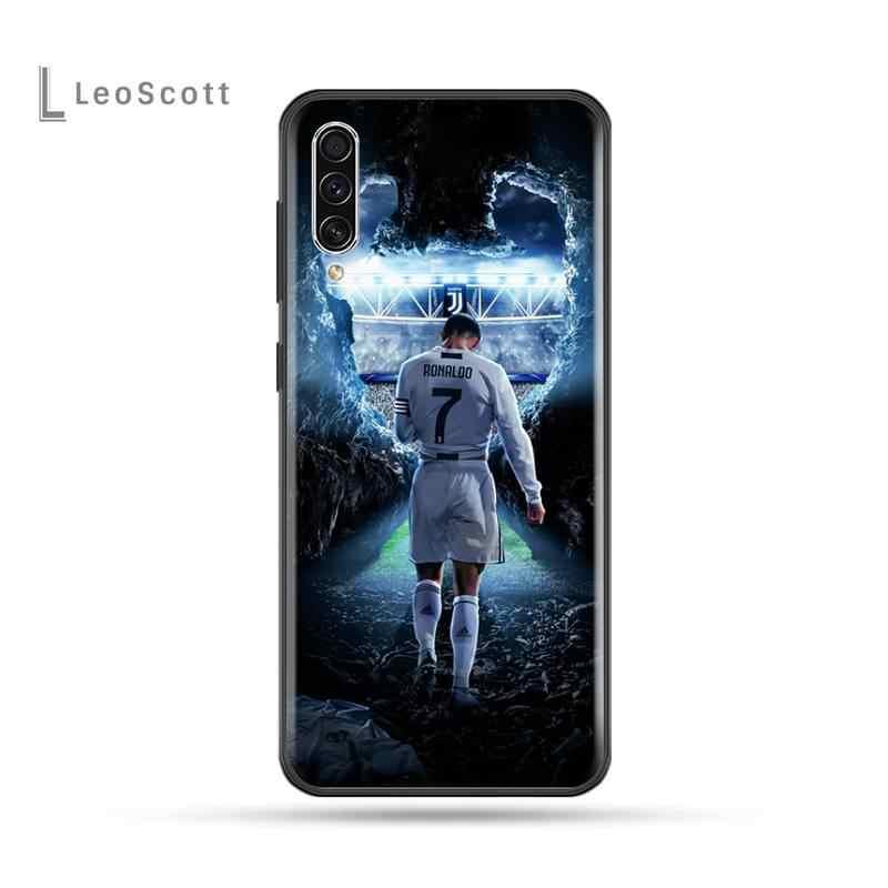 Ronaldo CR7 pokrywa czarny miękka skorupa etui na telefony dla Samsung A20 A30 30s A40 A7 2018 J2 J7 prime J4 Plus S5 uwaga 9 10 Plus