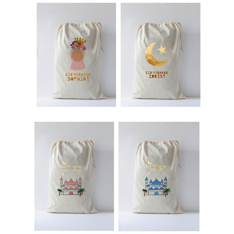 Personalised Eid Gift Bag With Your Text Bachelorette Party Design Sack Baptism Gift Bag Pouch Bithday Gift Bag Goody Holder Bag
