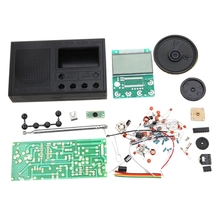 Learning-Assemble-Suite-Parts Radio-Set Electronic Beginner DIY FM for Study School-Teaching-Broadcast