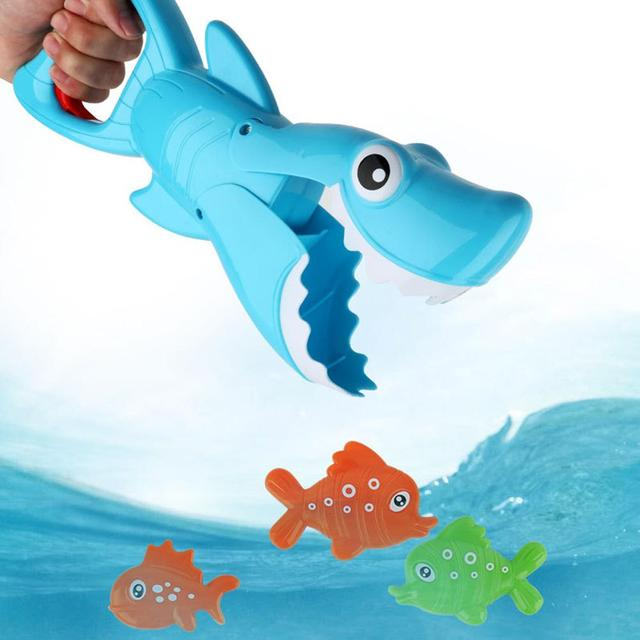 Kid's Toys New Bath Toys Funny Cute Shark Grab Small Fish Game Toy Baby Bath Toys For Toddlers Boys & Girls Newborn Gift