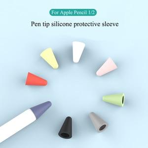 De silicona de punta para lápiz Apple punta piel cubierta protectora para lápiz Apple 2 pantalla táctil Stylus Pen reemplazar caso