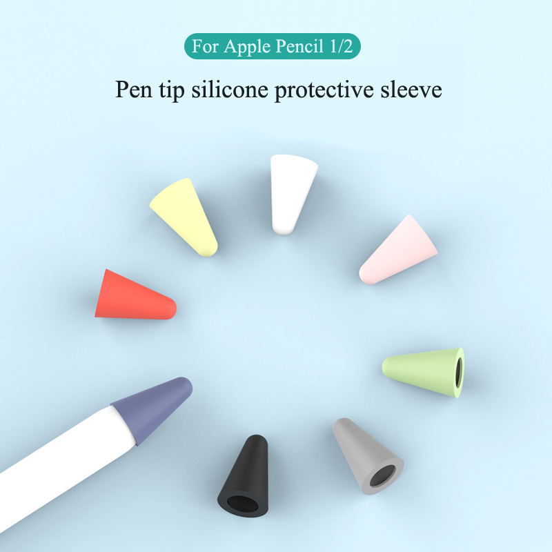 Silicone Replacement Tip Case For Apple Pencil Nib Protective Cover Skin For Apple Pencil 2 Touchscreen Stylus Pen Replace Case