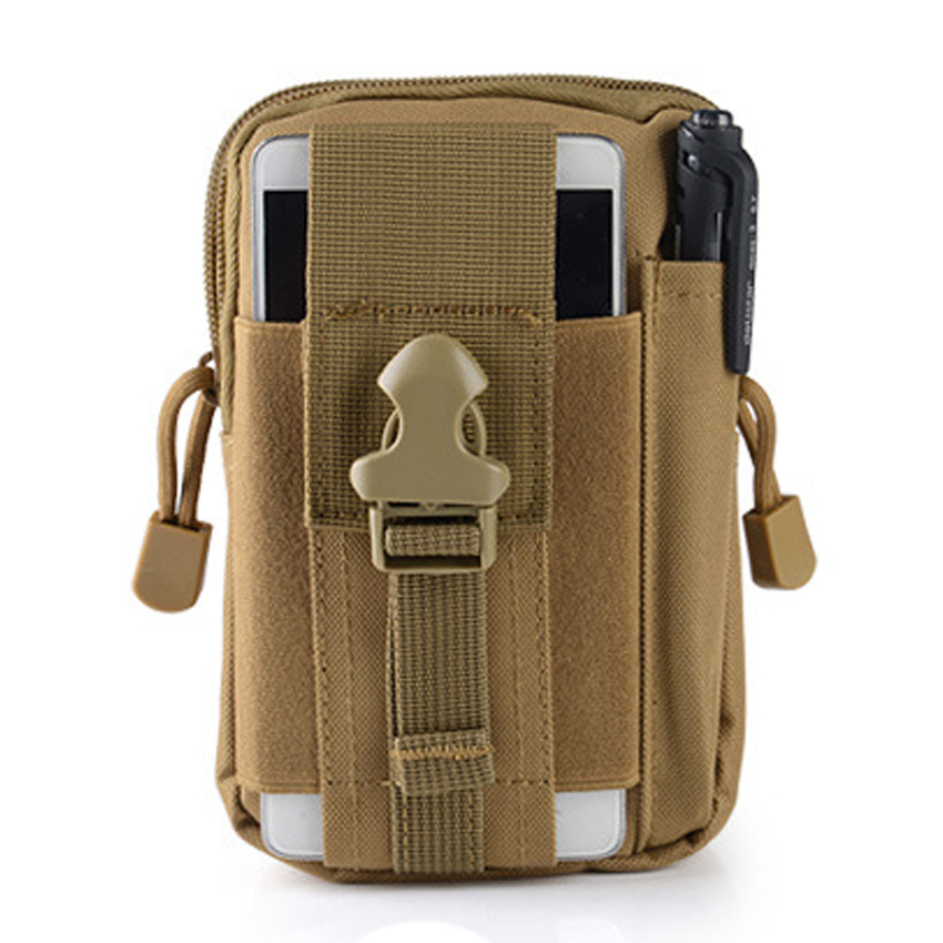 Outdoor Sport Camping Hiking Tactial Military Molle Hip Pouch Running Waist Belt Bag For IPhone 7 Gym Fitness Bag12 Colors