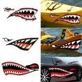 Комплект из 2 предметов, в трех размерах: Водонепроницаемый DIY веселые гребли каяк Стикеры s 3D зубы акулы наклейка в форме губ Стикеры практич...