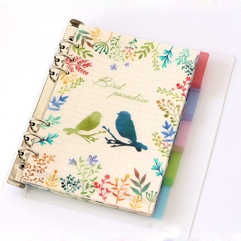 6 Holes A6 Colored Notebook's Index Page Inside Pages Planner Papers Cute Notebook Matching Stationery School Supplies
