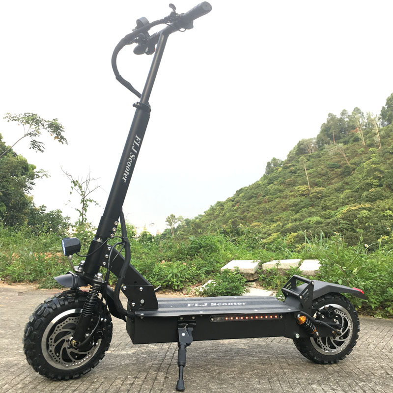 FLJ Newest 11inch Off Road Wheel 60V/3200W Electric Kick Scooter For Adults Powerful E Scooter Electric Electro Scooter