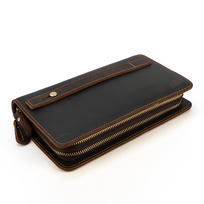 Luufan Fashionable Leather Male Long Purse Credit Coins Card Phone Big Wallet Handy Clutch Bag Purse Double Layer Men Clutches in Wallets from Luggage Bags