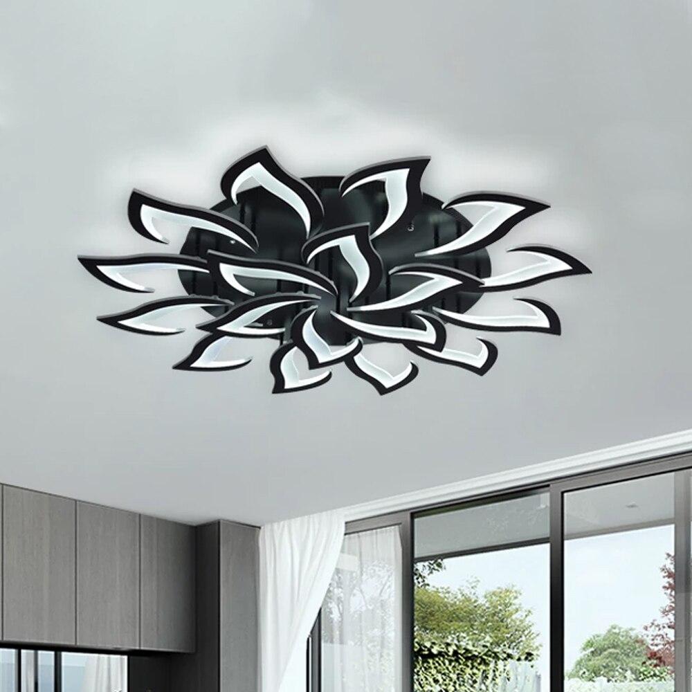IRALAN moderne créateur de mode noir Led plafonnier Art déco lampe suspendue pour cuisine salon Loft chambre maison luminaire