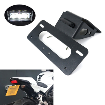 For Honda CB650F CBR650F 2014 2015 2016 2017 2018 2019 2020 Fender Eliminator Kit Rear Tail Tidy License Plate Holder Bracket for honda cbr500r cbr 500r cb500f 2016 2017 2018 2019 2020 license plate holder bracket rear tail tidy fender eliminator kit