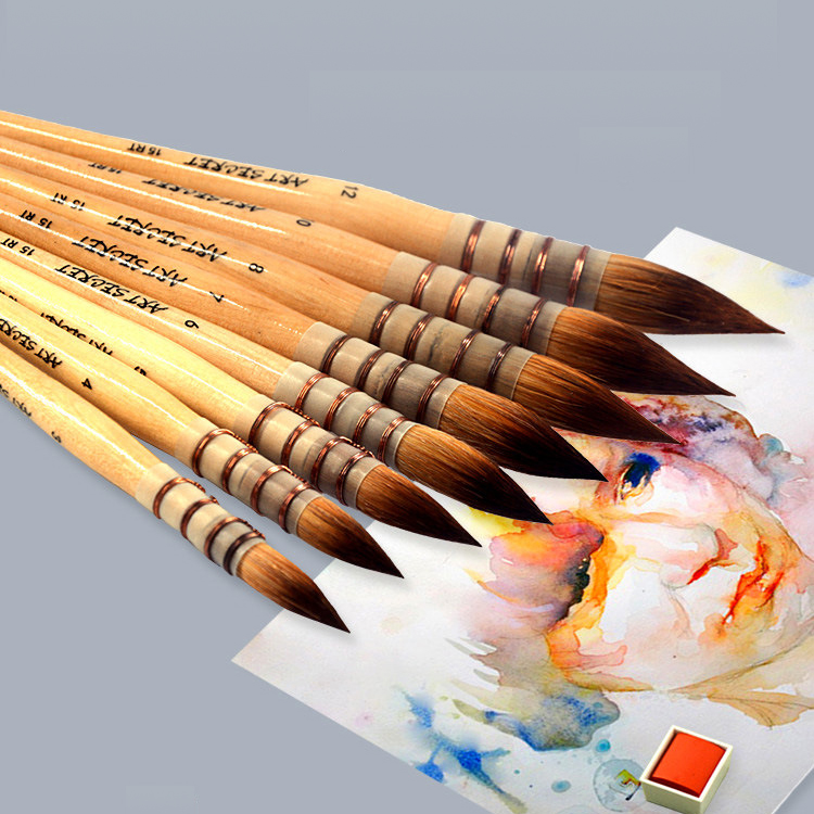 Nylon Watercolor Oil Painting Brush Mop Oil Painting Brush Set Oil Acrylic Paint Brush