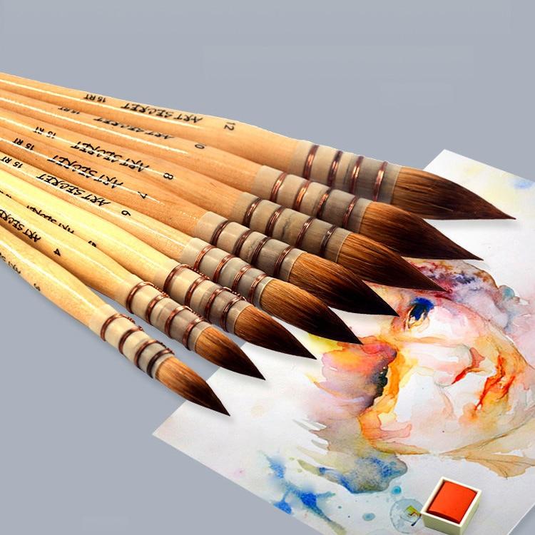 Nylon Watercolor Oil Painting Brush Mop Oil Painting Brush Set Oil Acrylic Paint Brush