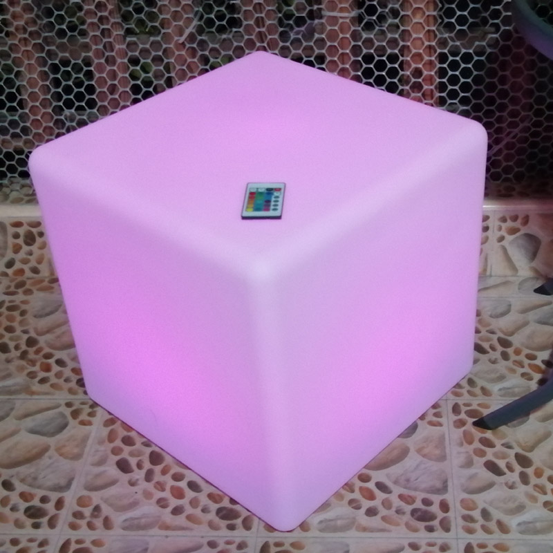 60cm 1.97FT LED Cube Stool Seat / Light Cubic Seat / Glowing Stool Chair / Patio Stool Cube Seat Free Shipping 1pc