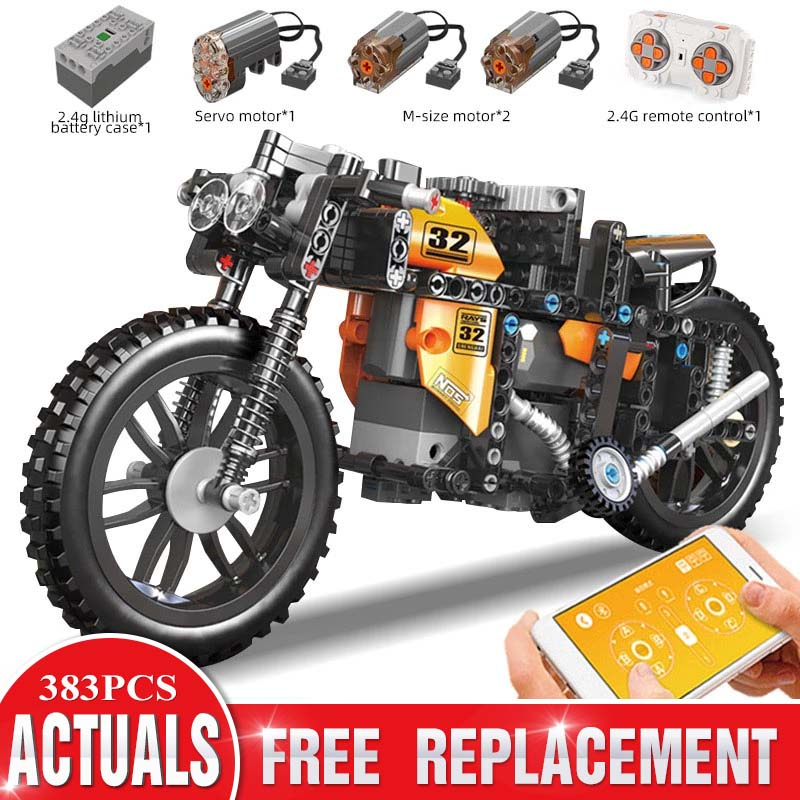 Bricks Building-Blocks Christmas-Toys Motorcycle-Model Mould King High-Tech Superbike